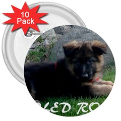 Spoiled Rotten German Shepherd 3  Buttons (10 pack)