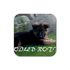 Spoiled Rotten German Shepherd Rubber Coaster (Square)
