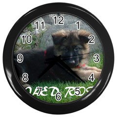 Spoiled Rotten German Shepherd Wall Clocks (Black)