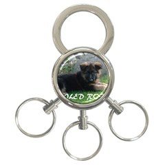 Spoiled Rotten German Shepherd 3-Ring Key Chains