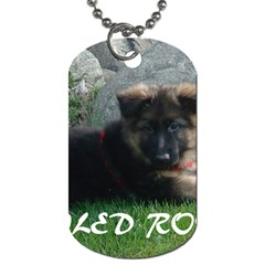 Spoiled Rotten German Shepherd Dog Tag (One Side)