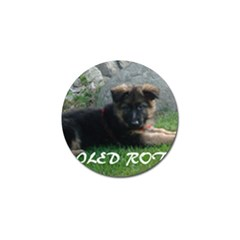 Spoiled Rotten German Shepherd Golf Ball Marker (4 pack)