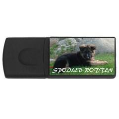 Spoiled Rotten German Shepherd USB Flash Drive Rectangular (2 GB)