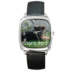 Spoiled Rotten German Shepherd Square Metal Watch