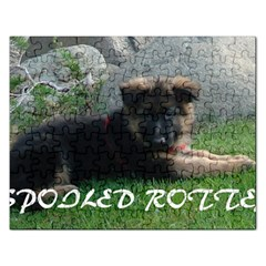 Spoiled Rotten German Shepherd Rectangular Jigsaw Puzzl