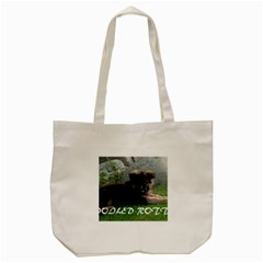 Spoiled Rotten German Shepherd Tote Bag (Cream)