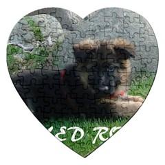 Spoiled Rotten German Shepherd Jigsaw Puzzle (Heart)