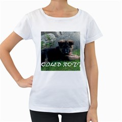Spoiled Rotten German Shepherd Women s Loose-Fit T-Shirt (White)