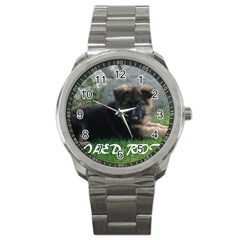 Spoiled Rotten German Shepherd Sport Metal Watch