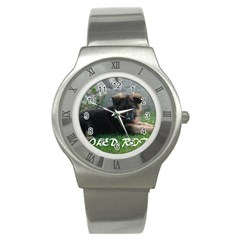 Spoiled Rotten German Shepherd Stainless Steel Watch