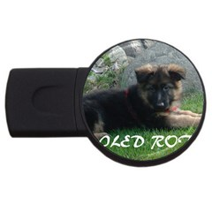 Spoiled Rotten German Shepherd USB Flash Drive Round (4 GB)