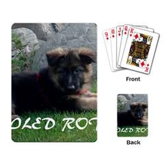 Spoiled Rotten German Shepherd Playing Card