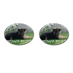 Spoiled Rotten German Shepherd Cufflinks (Oval)