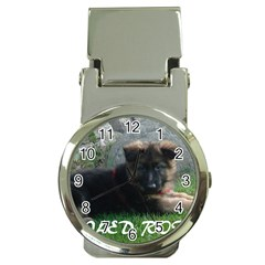 Spoiled Rotten German Shepherd Money Clip Watches
