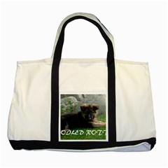 Spoiled Rotten German Shepherd Two Tone Tote Bag