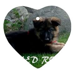 Spoiled Rotten German Shepherd Heart Ornament (Two Sides)