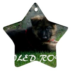 Spoiled Rotten German Shepherd Star Ornament (Two Sides)