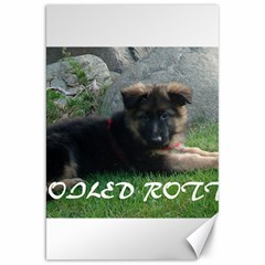 Spoiled Rotten German Shepherd Canvas 20  x 30