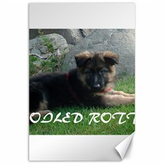 Spoiled Rotten German Shepherd Canvas 24  x 36