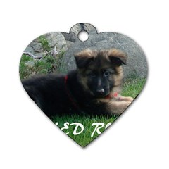 Spoiled Rotten German Shepherd Dog Tag Heart (Two Sides)