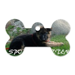 Spoiled Rotten German Shepherd Dog Tag Bone (Two Sides)