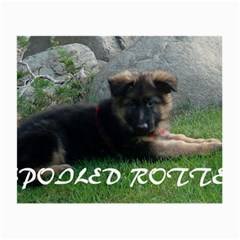 Spoiled Rotten German Shepherd Small Glasses Cloth (2-Side)