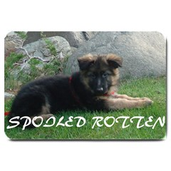 Spoiled Rotten German Shepherd Large Doormat