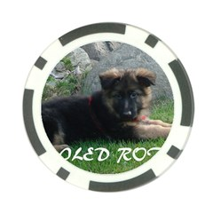 Spoiled Rotten German Shepherd Poker Chip Card Guard
