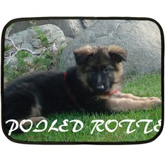 Spoiled Rotten German Shepherd Double Sided Fleece Blanket (Mini)
