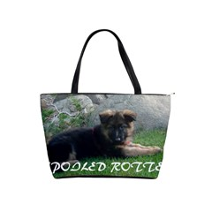 Spoiled Rotten German Shepherd Shoulder Handbags
