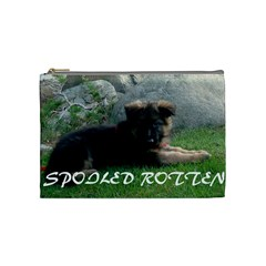 Spoiled Rotten German Shepherd Cosmetic Bag (Medium)
