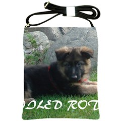 Spoiled Rotten German Shepherd Shoulder Sling Bags