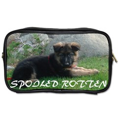Spoiled Rotten German Shepherd Toiletries Bags