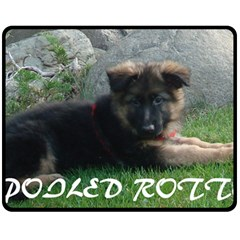 Spoiled Rotten German Shepherd Fleece Blanket (Medium)