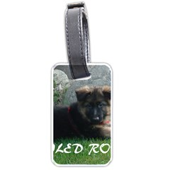 Spoiled Rotten German Shepherd Luggage Tags (One Side)