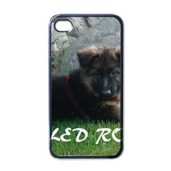 Spoiled Rotten German Shepherd Apple iPhone 4 Case (Black)