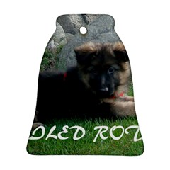 Spoiled Rotten German Shepherd Ornament (Bell)