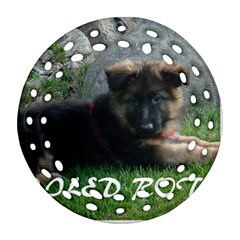 Spoiled Rotten German Shepherd Round Filigree Ornament (Two Sides)