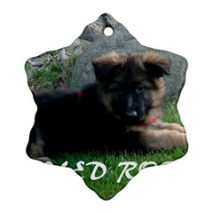 Spoiled Rotten German Shepherd Snowflake Ornament (Two Sides)