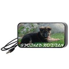 Spoiled Rotten German Shepherd Portable Speaker (Black)