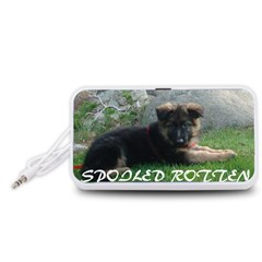 Spoiled Rotten German Shepherd Portable Speaker (White)