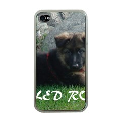 Spoiled Rotten German Shepherd Apple iPhone 4 Case (Clear)