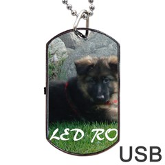 Spoiled Rotten German Shepherd Dog Tag USB Flash (One Side)