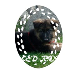 Spoiled Rotten German Shepherd Oval Filigree Ornament (Two Sides)