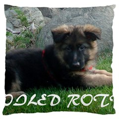 Spoiled Rotten German Shepherd Large Cushion Case (One Side)