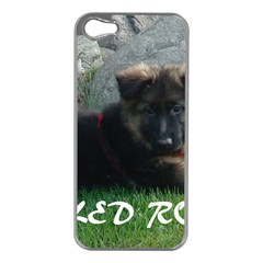 Spoiled Rotten German Shepherd Apple iPhone 5 Case (Silver)