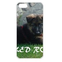 Spoiled Rotten German Shepherd Apple iPhone 5 Seamless Case (White)