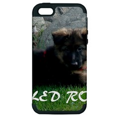 Spoiled Rotten German Shepherd Apple iPhone 5 Hardshell Case (PC+Silicone)