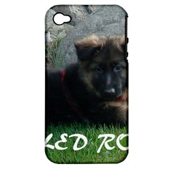 Spoiled Rotten German Shepherd Apple iPhone 4/4S Hardshell Case (PC+Silicone)