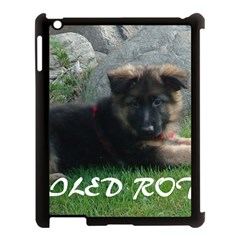 Spoiled Rotten German Shepherd Apple iPad 3/4 Case (Black)